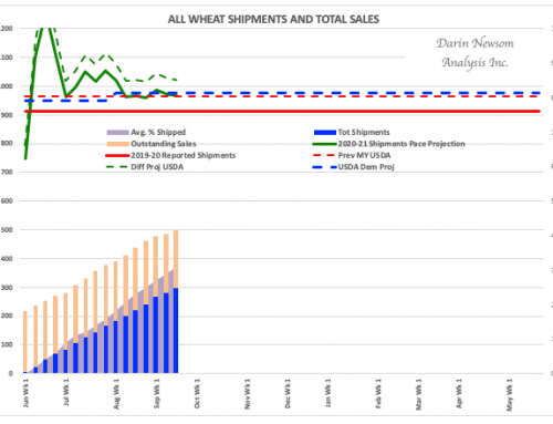 All Wheat Sales and Shipments: Still Steady
