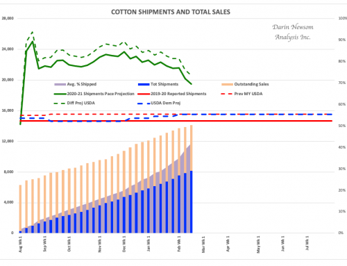 Cotton Sales and Shipments: The Downtrend Accelerates
