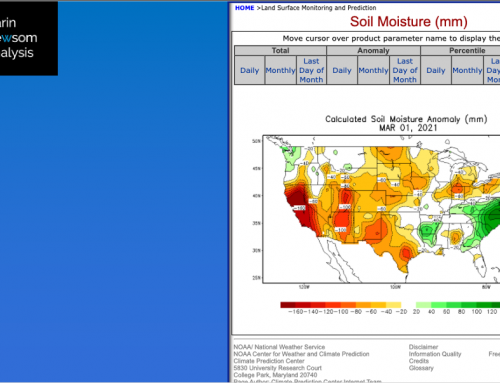 US Soil Moisture: As Spring Begins