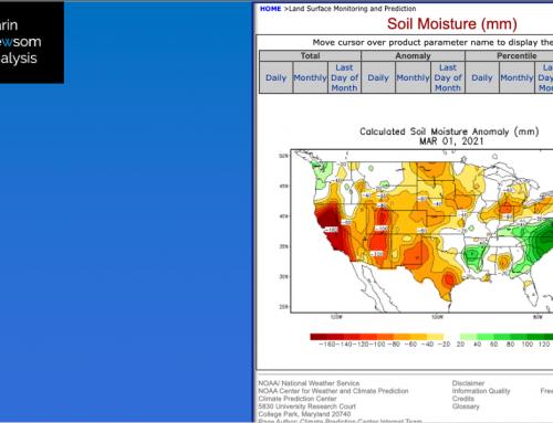 US Soil Moisture: As Spring Begins