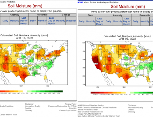 US Soil Moisture: Some Springtime Improvement